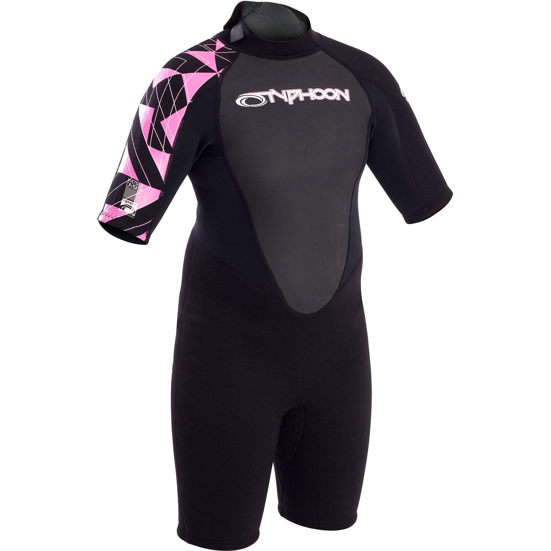 Typhoon Swarm Girls 3mm Shorty Wetsuit 2020 471252 Cloudberry