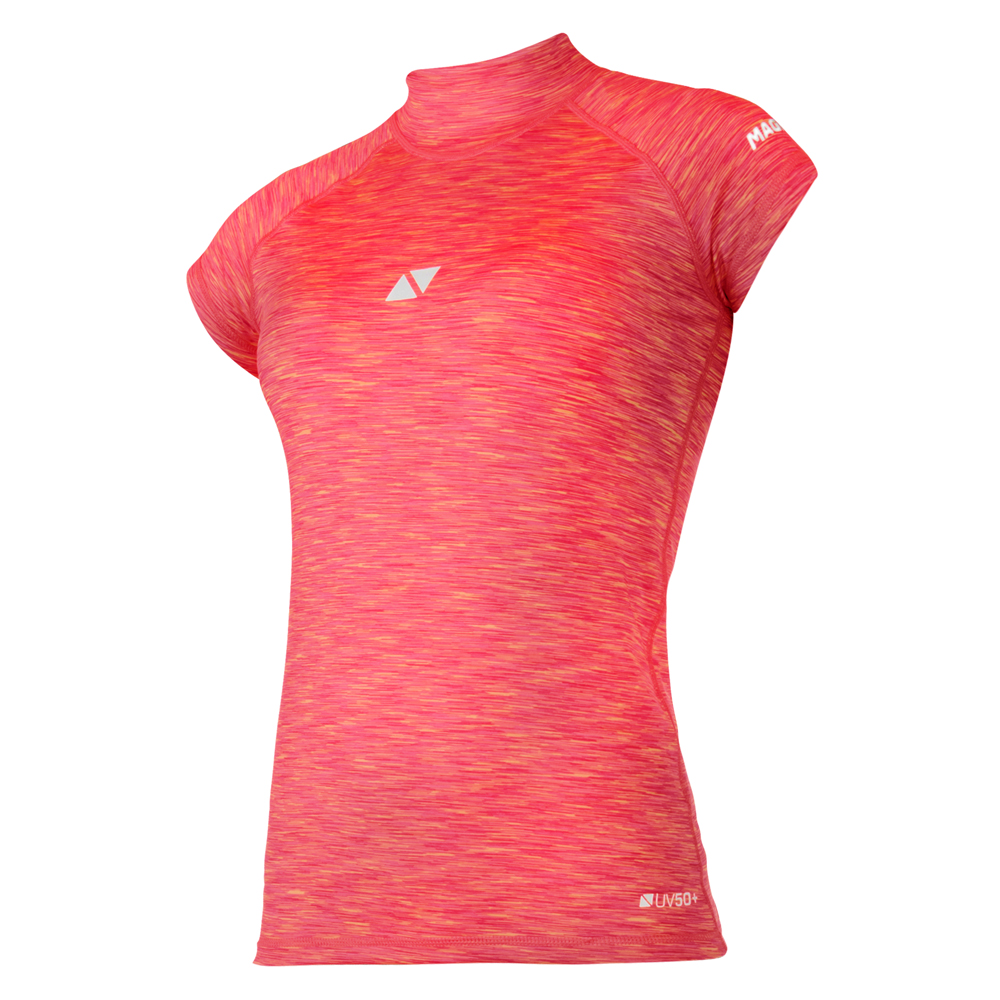 Magic Marine Womens Cube Short Sleeve Rashvest 2020 Pink