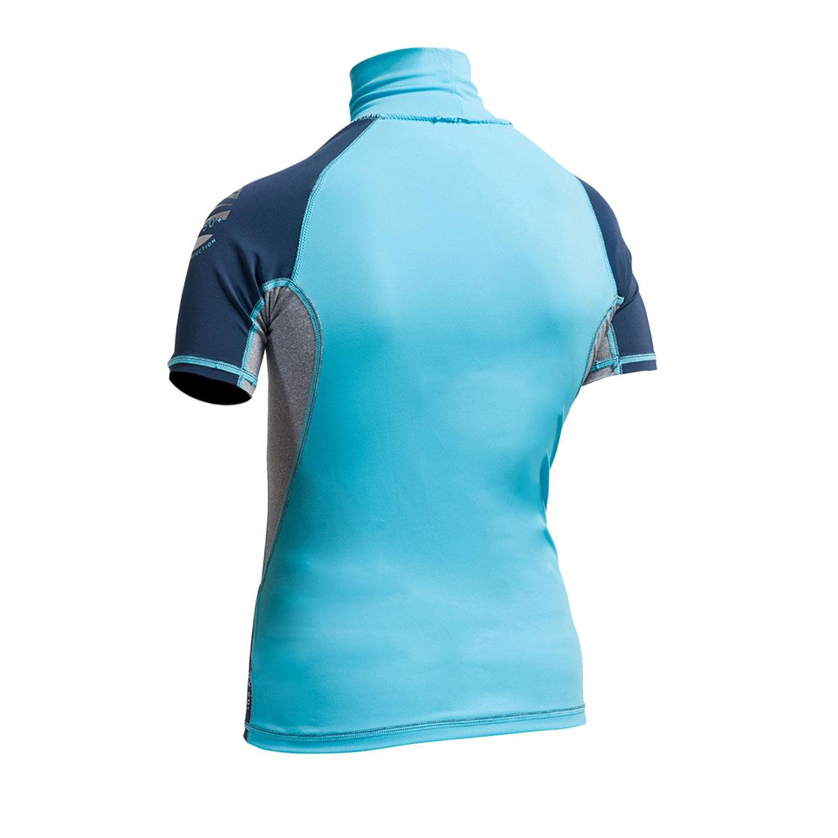 Turquoise//Pink Gul Junior Flatlock UV Protection Sunsuit 2020