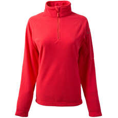 Gill Womens Grid Microfleece - Coral