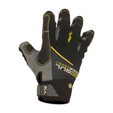 Gul Summer Short Finger Sailing Gloves  - Black/Yellow