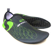 Sola Active Soles Lighweight Beach Shoes - Graphite Lime