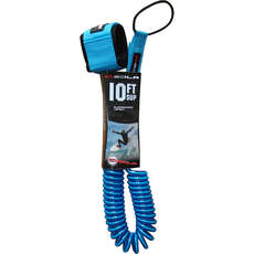 Sola 10ft x 8mm Coiled SUP Paddle Board Leash - Blue