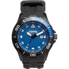 Cressi Manta Divers Watch 100m - Black/Black/Blue