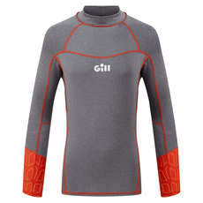 Gill Junior Pro Rash Vest Long Sleeve - Grey