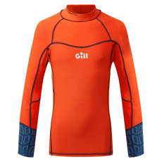 Gill Junior Pro Rash Vest Long Sleeve - Orange