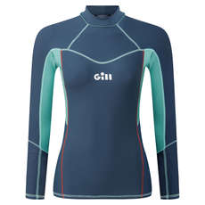 Gill Womens Pro Rash Vest Long Sleeve - Ocean