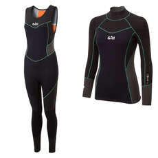 Gill Womens Zentherm Dinghy Wetsuit Kit - Black