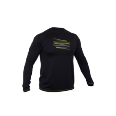 2020 Gul Tee Fit Long Sleeve Rashvest - Black - RG0369-B5