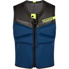 Mystic Block Kite Surfing Front-Zip Impact Vest - Navy/Lime