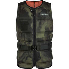 Mystic MAJESTIC Wake Boarding Front-Zip Buckle Impact Vest - Brave Green