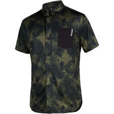 Mystic Shred Short Sleeve Quickdry Top  - Brave Green