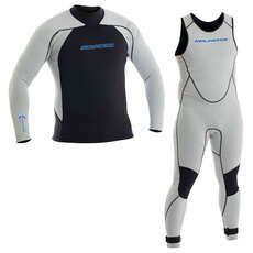 Neil Pryde Youth ELITE 1mm Firewire Sailing Wetsuit Combo - Light Grey