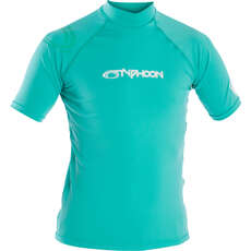 Typhoon Junior Short Sleeve Rash Vest - Aqua Green