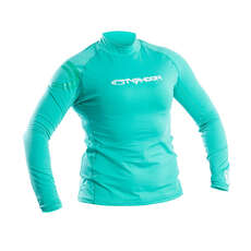 Typhoon Womens Long Sleeve Rash Vest - Aqua Green