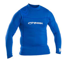 Typhoon Long Sleeve Flat Locked Rash Vest - Aqua Blue