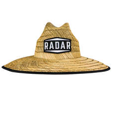 Radar Paddlers Sun Hat - Tan Straw/Wave Nylon