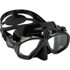 Cressi Action Diving / Snorkelling Mask with Action Camera Mount - Black