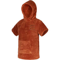 Mystic TEDDY Kids Poncho / Changing Robe  - Rusty Red