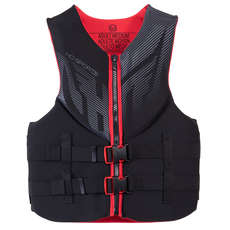 HO Sports Mens Infinite Waterski Vest - Black/Red