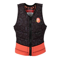Radar Skis Womens Lyric Reversible Waterski Vest - Black / Coral