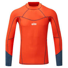 Gill Pro Rash Vest Long Sleeve - Orange
