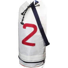 Bainbridge Sailcloth Sail Number Duffel Sailing Bag - White - 43 Ltr