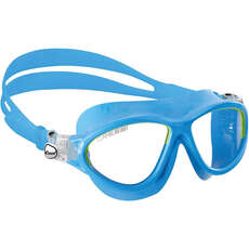 Cressi Mini Cobra Kids Swimming Goggles - Light Blue/Lime - Age 7-15