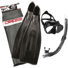 Cressi Pro Star Mask Snorkel & Set - Black