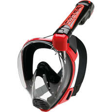 Cressi Duke Full Face Snorkelling Mask - Black/Red
