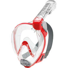 Cressi Duke Full Face Snorkelling Mask - Clear/Red