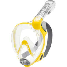 Cressi Duke Full Face Snorkelling Mask - Clear/Yellow