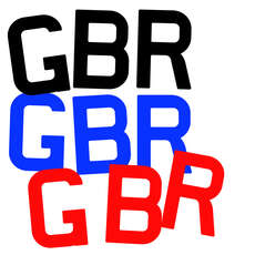 Replacement Sail Letters - GBR - 300mm