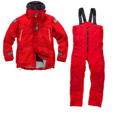 Gill OS23 Jacket & Trouser Sailing Kit Combo 2018 - Red/Red