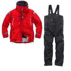 Gill OS23 Jacket & Trouser Sailing Kit Combo 2018 - Red/Graphite