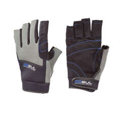 Gul Winter Short Finger Sailing Gloves 2018 - Black/Charcoal