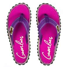 Gumbies Womens Islander Canvas Flip Flops - Purple Signed
