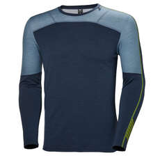Helly Hansen HH Lifa Merino Base Layer Crew Top - North Sea Blue