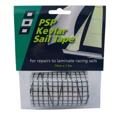 PSP Sail Repair Tape Made With Kevlar 75mm X 1.5m - Black