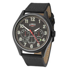 Limit Mens Pilot Aviator Style Analogue Watch - Black