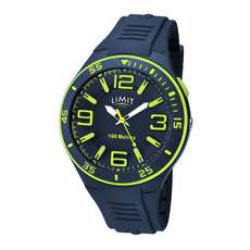 Limit Mens Analogue Water Sports Watch - Navy Lime