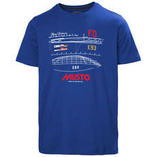 2020 Musto Flying Dutchman T-Shirt - Blue - LMTS092-581