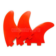 Eurofins FCS Compatible Surfboard Fin Set - Red [Set of 3 Fins]