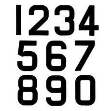 Replacement Optimist Sail Numbers - Class Legal - Black