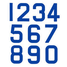 Replacement Optimist Sail Numbers - Class Legal - Blue