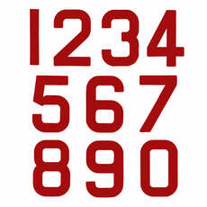 Replacement Optimist Sail Numbers - Class Legal - Red