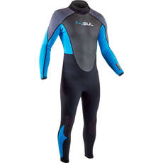 2020 Gul Response 3/2mm FL Wetsuit - Black/Blue - RE1321-B7