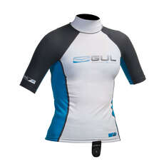 Gul Junior Short Sleeve Rashguard 2019 - White/Blue