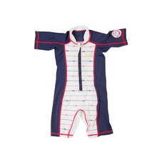 Gul Childrens Sun Suit  - Navy/White