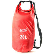 RUK Sport 20L Dry Bags With Strap - Red